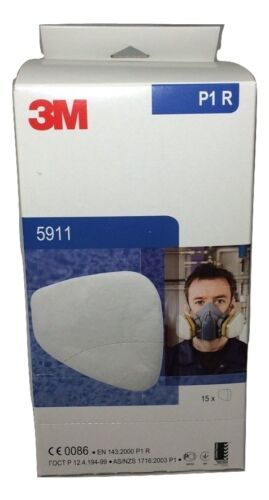 3M 5911 FILTER RESPIRATORY dust P1 for K6200 Box of 15 pairs