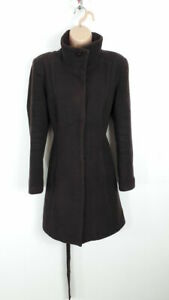 WOMENS-MARKS-AND-SPENCER-BUTTON-UP-WINTER-LONG-COAT-JACKET-UK-10