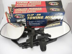CIPA-Clip-On-Towing-Mirrors-Set-of-2-11950-Black-Adjustable-5-034-x-7-5-034-Easy
