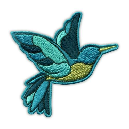 hummingbird left Embroidered PATCH//BADGE Bird