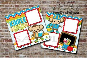 Kindergarten-School-Boy-Monkey-2-PRINTED-Premade-Scrapbook-Pages-BLJgraves-31