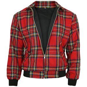 Relco tartan rouge Harrington Veste Skinhead Mod Scooter Ska Punk Rétro Jeu
