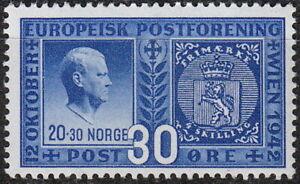 Stamp-Norway-Sc-254-1943-WWII-Quisling-Traitor-War-Adolf-War-Congress-MNH