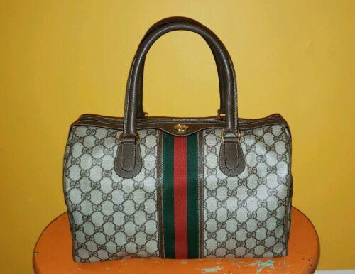Vintage Gucci GG Monogram Boston Brown Speedy Bag… - image 1