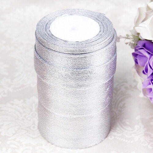 25 Yard Craft Jewellery Sparkle Glitter Decor Organza Ribbon Silk Tape 0.6-4c Bi