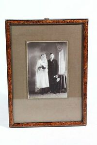 Very-Beautiful-Age-GDR-Picture-Frame-Wood-With-Picture-20-x-29cm