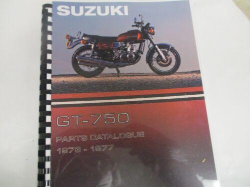 Suzuki GT750 parts manual   1973 1974 1975 1976 1977