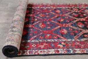 Vintage-Geometric-Malayer-All-Over-Oriental-Runner-Rug-Wool-Hand-Knotted-4-039-x13-039