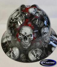 New Custom MSA V-Gard (Full Brim) Hard Hat W/FasTrac Bonehead Pattern