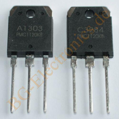2 x 2SC3284 /& 2SA1303 4 complementary transistors 125W 14A 150V  PMC TOP-3L 4pcs