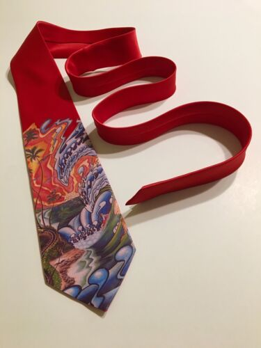 Waves Surf Sunset  Necktie One Of A Kind Unique And Cool Artsy Tie