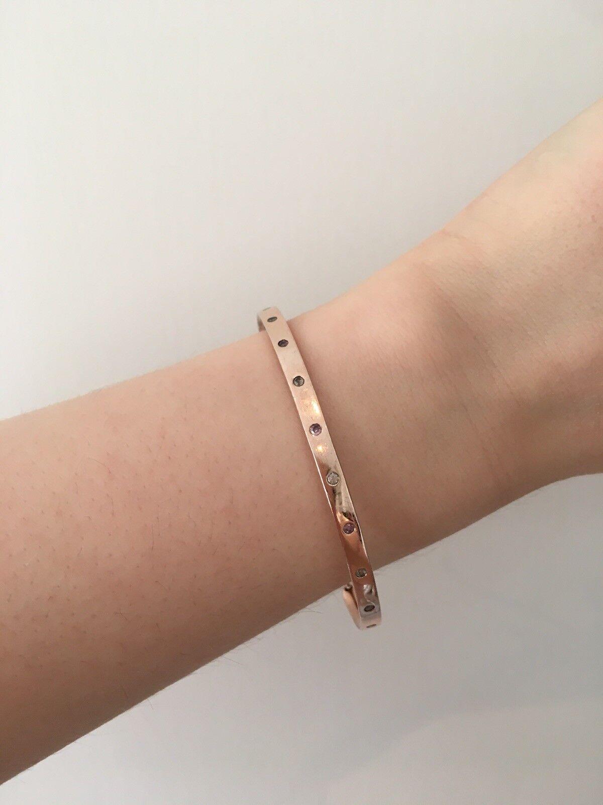Monica Vinader pink gold Fiji Friendship Bracelet With Diamonds