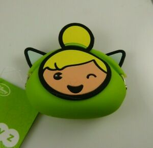 Coin-change-purse-pouch-rubber-green-tinkerbell-tinker-bell-winking