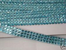 3strip LITE BLUE iron-on hotfix reel diamonte crystal