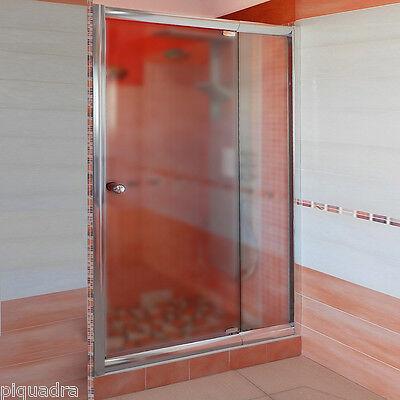 Box doccia porta anta a battente in cristallo 6 mm opaco nicchia 90 da 78 a 90
