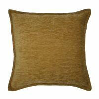 Yellow Ochre Plain Chenille Cushions, Covers + Pillows. McAlister Essentails