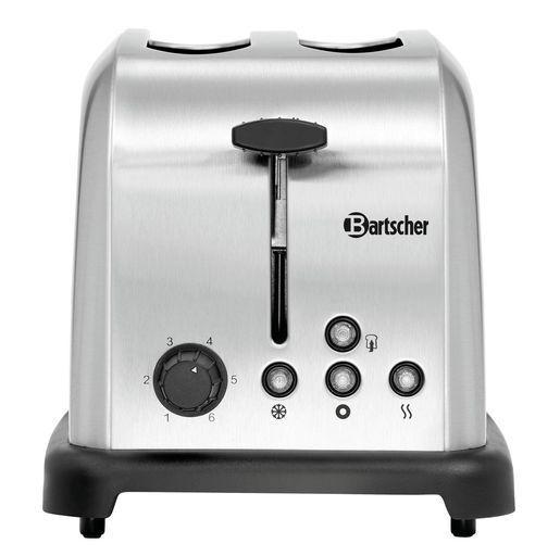 4 Scheiben Schlitz Toaster Sandwich Toast Edelstahl Gastro Toaster