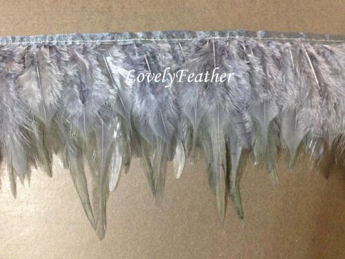 Flecos de plumas Hackle de Carcoal Gris Color 2 YD approx. 1.83 m Ajuste
