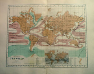 Antique-Map-Of-The-World-Physical-Isothermal-Lines-1871