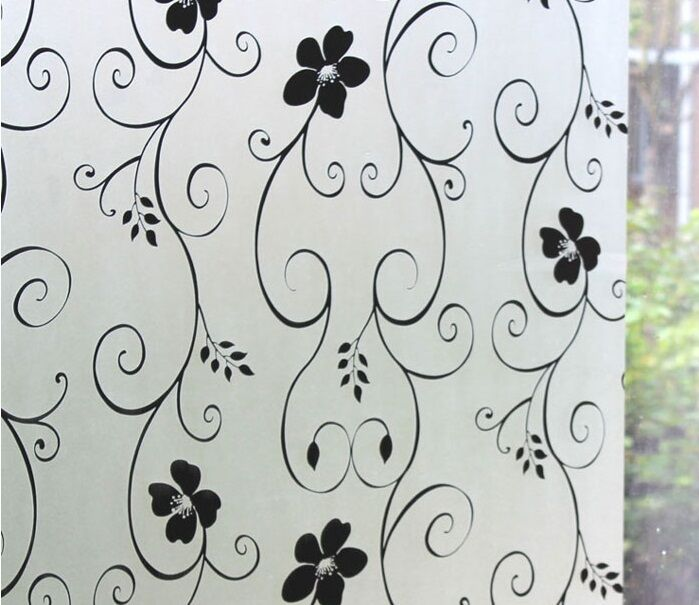 Elegant Style Frosted Static Stained Glass Decorative Vinyl Privacy Window Film