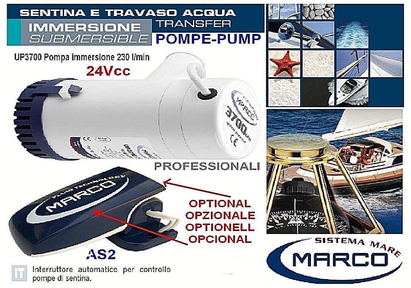 MARCO UP3700 Pumpe der bilge bilge bilge Profi Eintauchen 24V 230 Lt. Minute Stiefel 2bb6b9