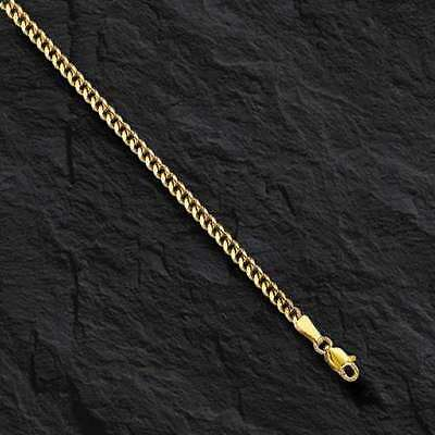 10k Solid Yellow Gold Gourmette Curb Box Link 22 2mm 6 gram pendant chain