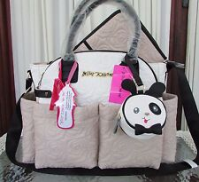 Betsey Johnson Diamond Fl Roses Quilt Diaper Bag Sand Weekender Travel Nwt