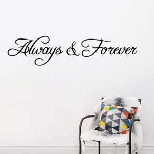 Alway Forever Spanish Inspiring Quotes Wall Sticker Bedroom Wall Art