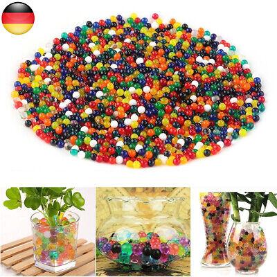 50000x Wasserperlen Gel Balls Wohnkultur Blumenhandwerk Hochzeit Pflanzen Dekor