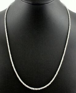 Diamant-Kette-Edelsteinkette-Weiss-Facettierte-Top-Qualitaet-Collier-Edel-45-cm