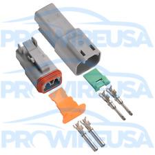 Deutsch DT 2 Pin Connector Kit 18-16 GA Nickel MSD 8183