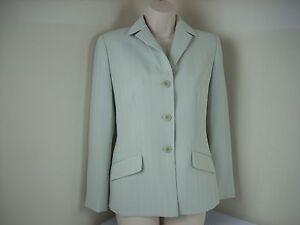 Le Suit Brand 4p Pant Suit Women Mint Green Jacket Pants Pinstripe