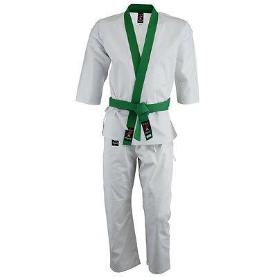 Playwell Penetración Soo Do 256ml Uniforme Verde Recortada Adulto Traje Niños Gi Crease-Resistance Sporting Goods