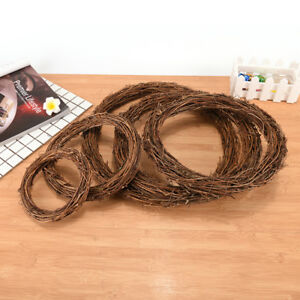 Retro-Christmas-Wreath-Hang-Natural-Garland-Dried-Rattan-1Pcs-Xmas-Wall-C-HV