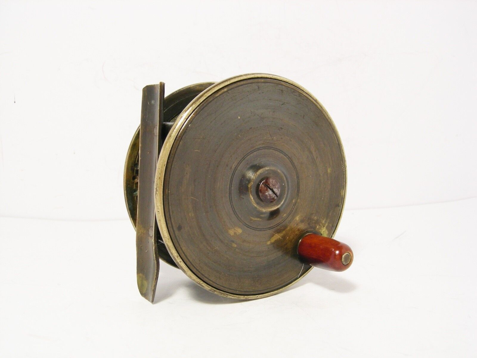 VINTAGE Antico 3 14 platewind Brass FLY FISHING REEL