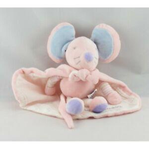 Doudou-souris-rose-avec-cape-super-doudou-AJENA-Souris-Rat-Classique