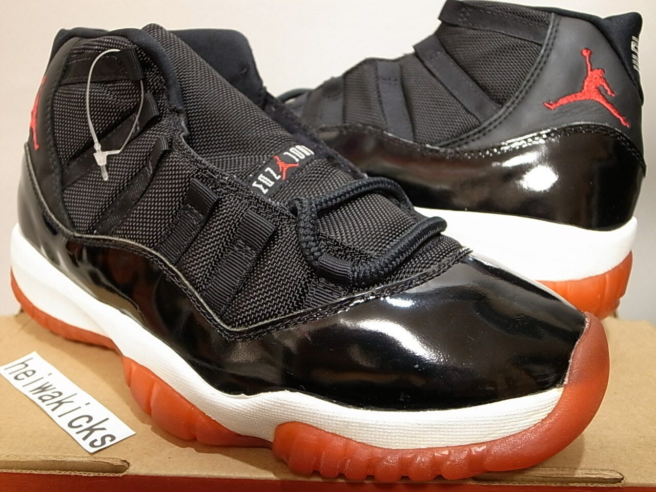 1996 NIKE AIR JORDAN 11 BRED ORIGINAL OG Black-True Red-White 130245-062 size 9