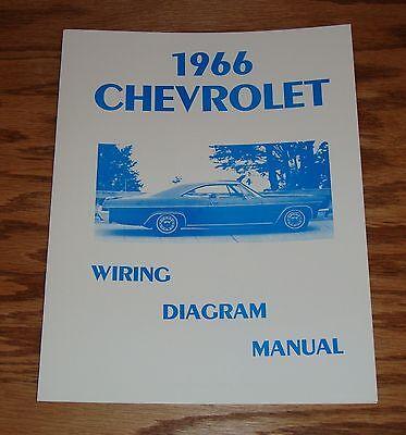 1966 Chevrolet Passenger Car Wiring Diagram Manual 66 ...