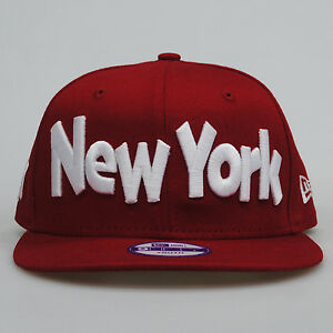 New era 9fifty giovanile ny nuovo york clean wordmark for Logo cappello rosso