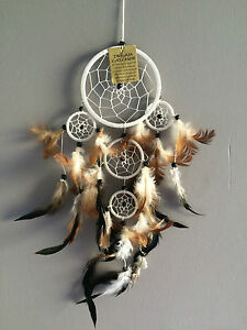 capteur de r ves attrape r ves dreamcatcher blanc artisanat am rindien ebay. Black Bedroom Furniture Sets. Home Design Ideas
