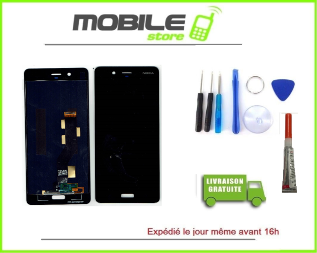 Vitre Tactile + Ecran LCD Pour Nokia 8 + Outils + Colle