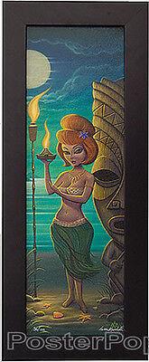 Hula Girl Red Head Tiki Lim Edition Print By Aaron Marshall Giclee Canvas Framed
