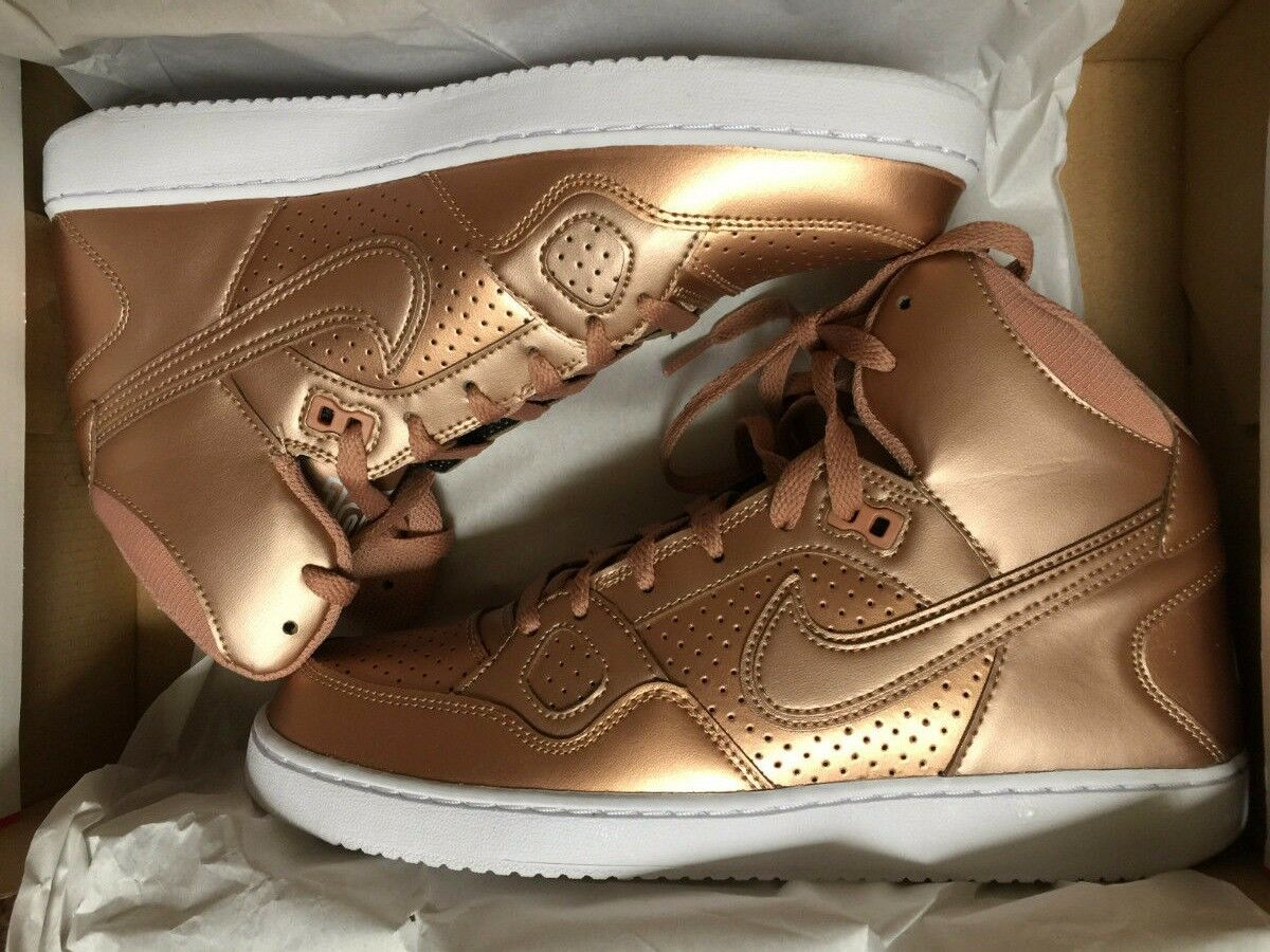 Nike Son Of Force Mid Women's Shoes Rose Gold