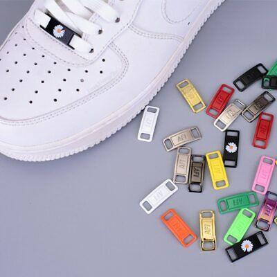 AF1 fibbia in metallo lacci delle scarpe accessori lacci delle scarpe kit fai da te Blocco Scarpe da ginnastica 2Pcs/Coppia | eBay