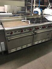 Wolf Range 6 Burners W/ Griddle (1) Convection Oven (1) Standard Oven Restaurant