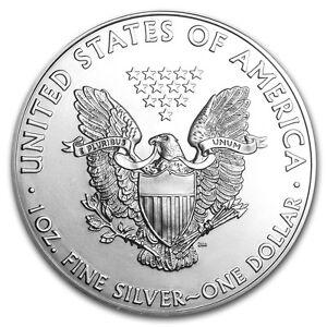 Silver American Eagle 1 oz. .999 fine silver American Eagles 1oz Coin