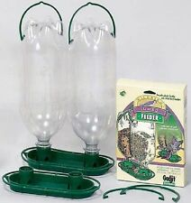 Gadjit JUMBO DOUBLE BIRD FEEDER ATTACHMENTS FOR RECYCLING SODA POP BOTTLES    dm