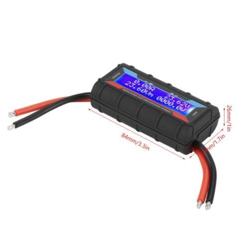 Digital LCD RC High Precision Watt Meter Power Volt Amp DC Analyzer 60V 130A