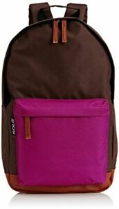 Gola-Pendleton-Brown-Hydrangea-And-Tan-Zipped-Medium-Backpack-With-Front-Pocket