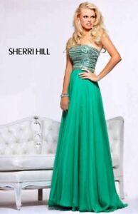 Strapless Emerald Green Prom Dress -Sherri